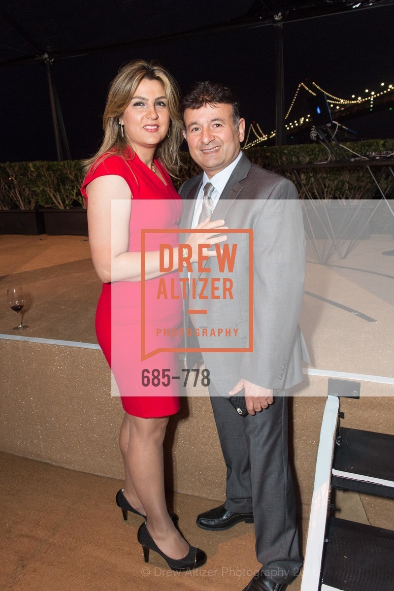 Fatima Shahmirzai, Saeed Shahmirzai, The Bay Lights Grand Relighting Celebration, Epic Steakhouse. 369 The Embarcadero, January 29th, 2016,Drew Altizer, Drew Altizer Photography, full-service agency, private events, San Francisco photographer, photographer california