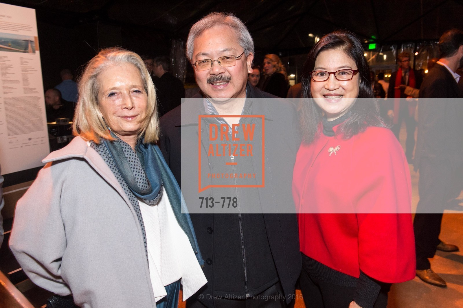 Mimi Haas, Ed Lee, Anita Lee, The Bay Lights Grand Relighting Celebration, Epic Steakhouse. 369 The Embarcadero, January 29th, 2016,Drew Altizer, Drew Altizer Photography, full-service agency, private events, San Francisco photographer, photographer california