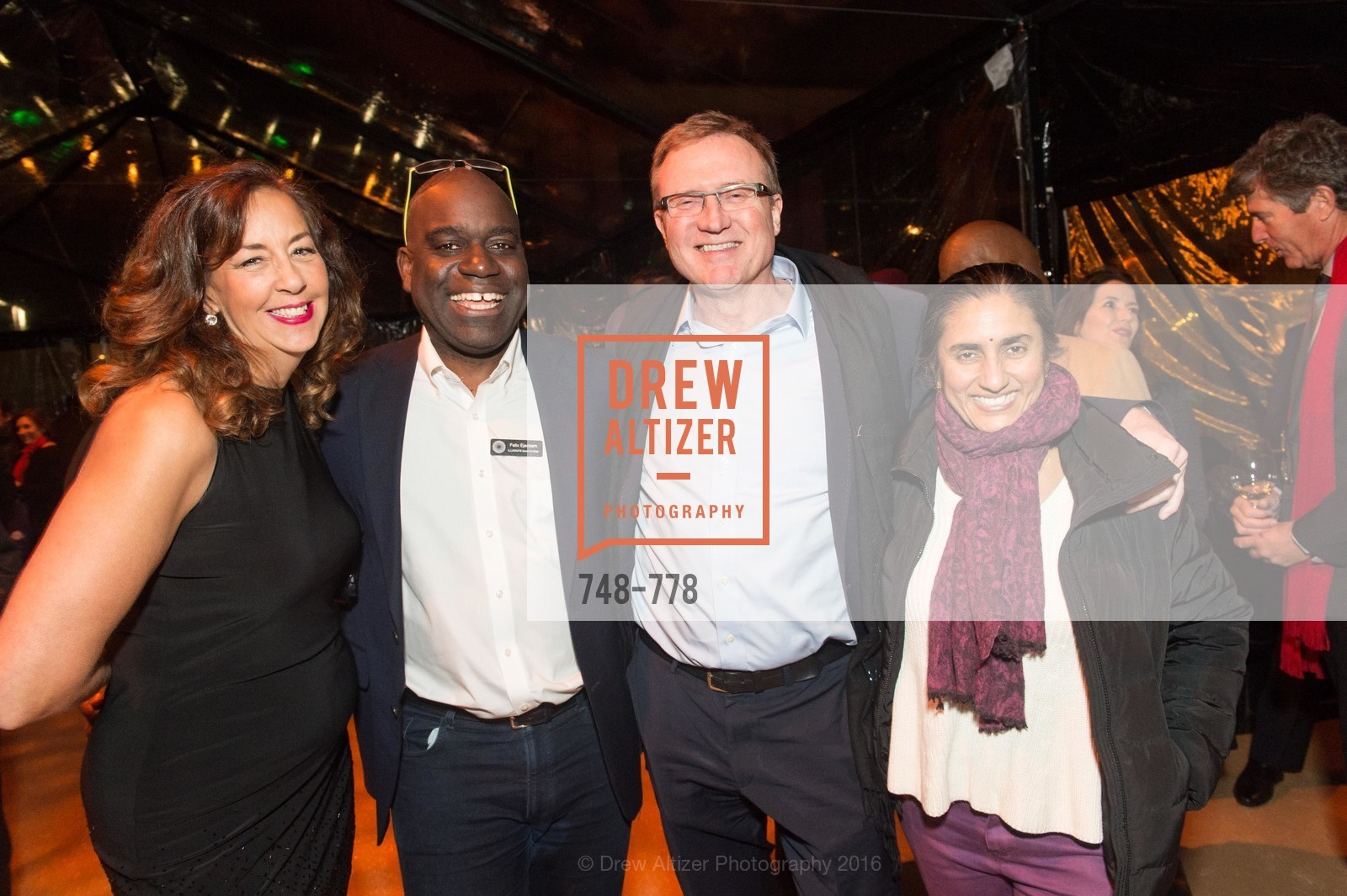 Patricia Wilson, Feliz Ejeckam, Tim Clark, Lalita Vaidyanathan, The Bay Lights Grand Relighting Celebration, Epic Steakhouse. 369 The Embarcadero, January 29th, 2016,Drew Altizer, Drew Altizer Photography, full-service agency, private events, San Francisco photographer, photographer california