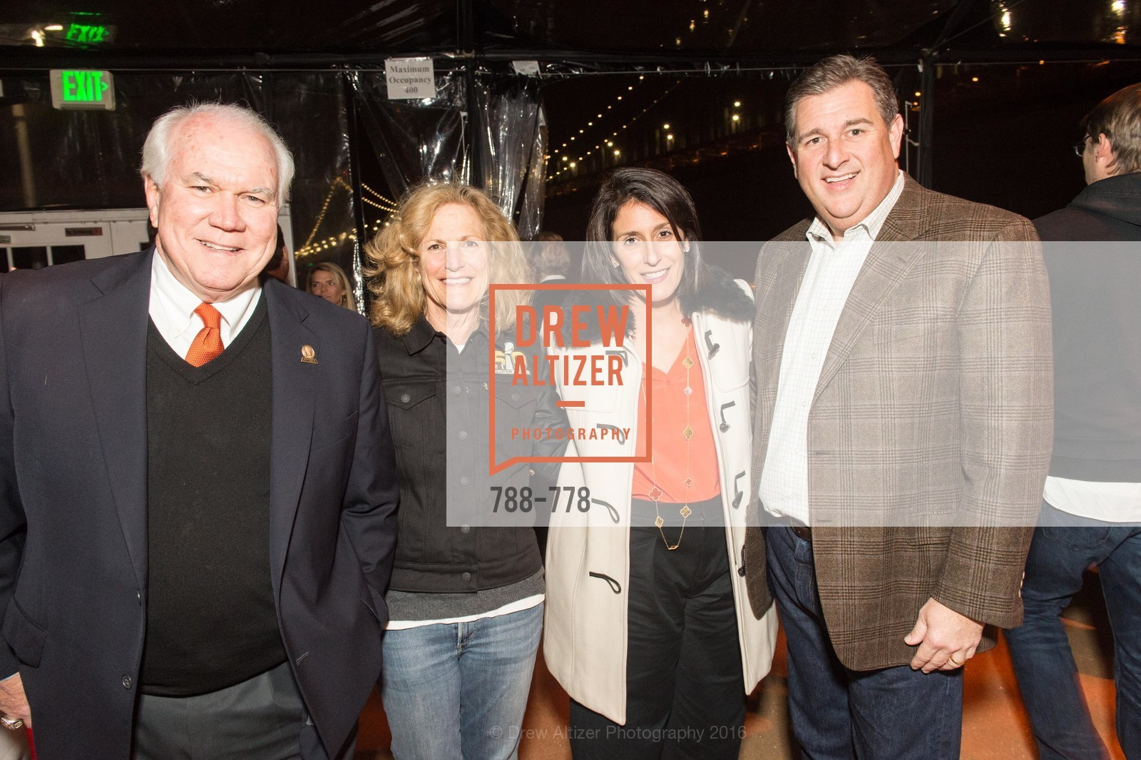 Pat Gallagher, Joan Gallagher, Elizabeth Revetria, Stephen Revetria, The Bay Lights Grand Relighting Celebration, Epic Steakhouse. 369 The Embarcadero, January 29th, 2016,Drew Altizer, Drew Altizer Photography, full-service event agency, private events, San Francisco photographer, photographer California