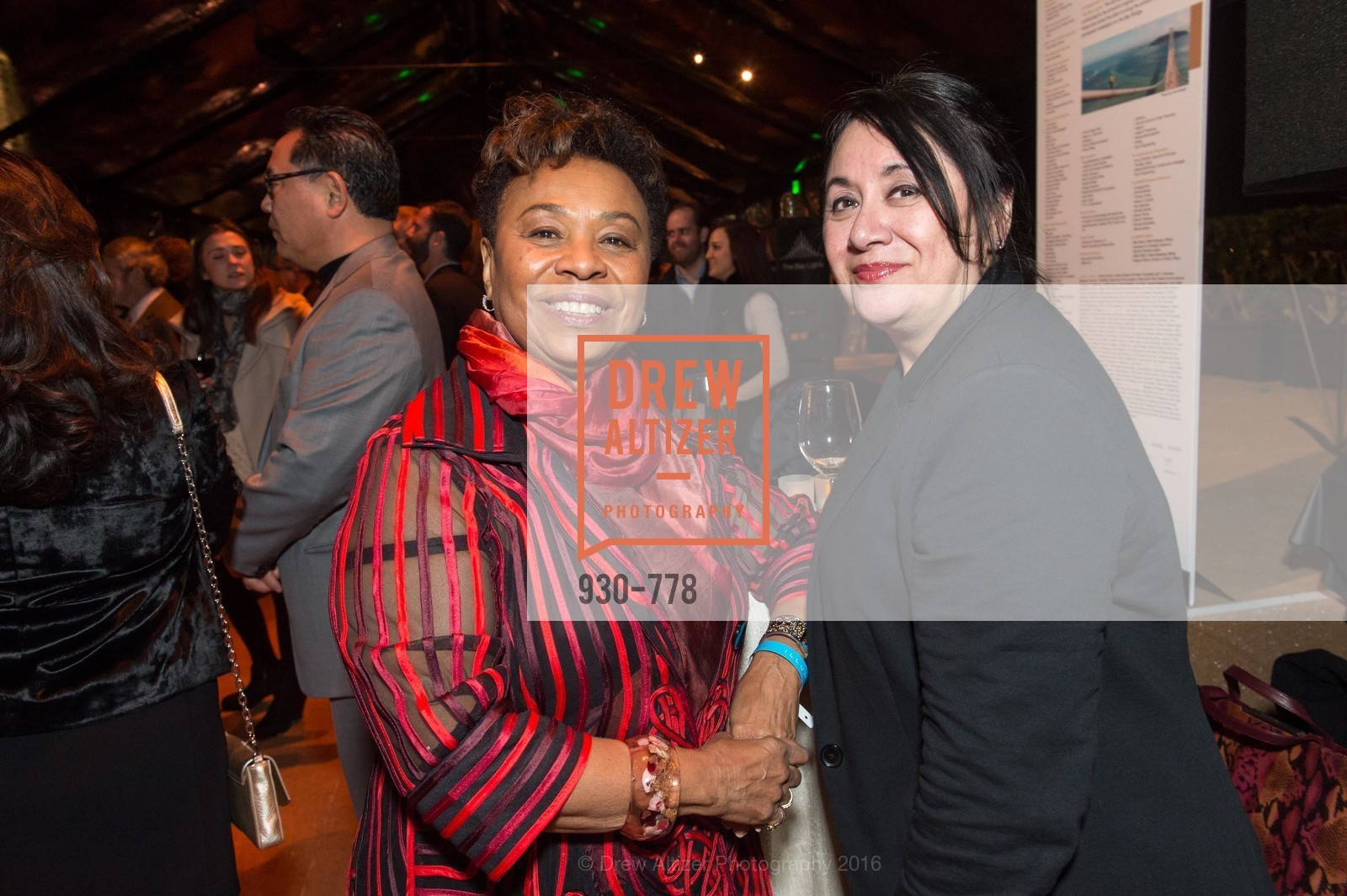 Barbara Lee, Liz Valdez, The Bay Lights Grand Relighting Celebration, Epic Steakhouse. 369 The Embarcadero, January 29th, 2016,Drew Altizer, Drew Altizer Photography, full-service event agency, private events, San Francisco photographer, photographer California