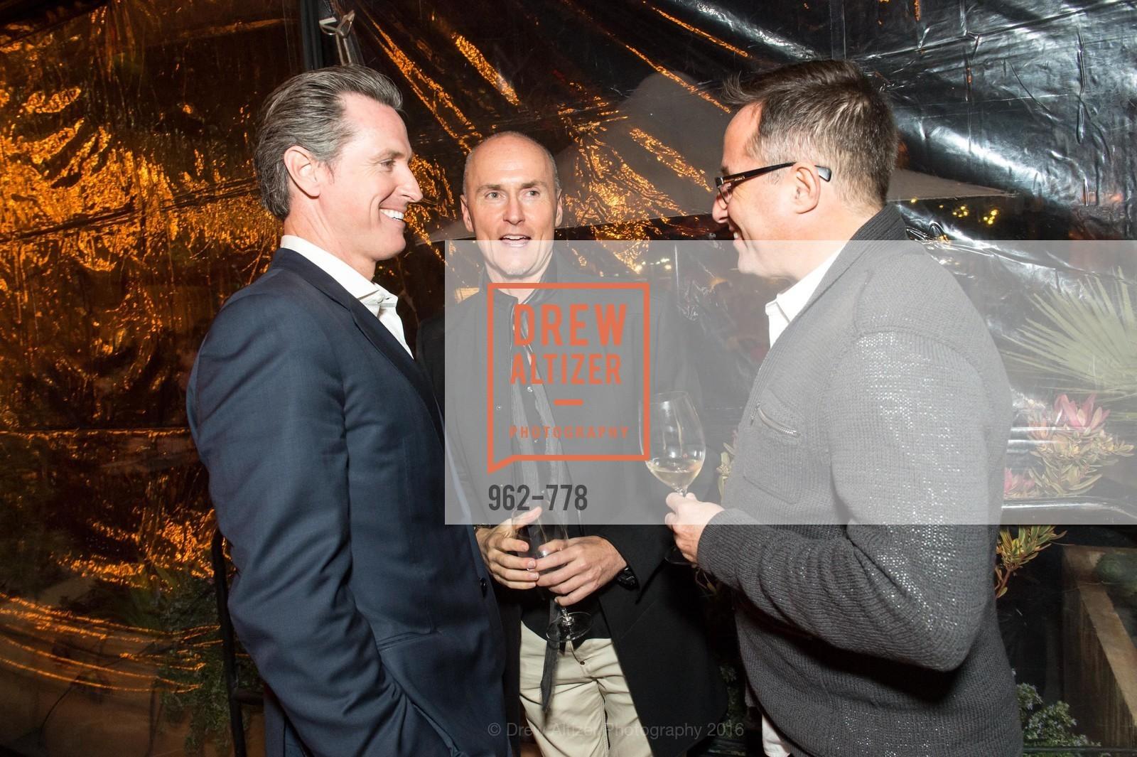 Gavin Newsom, Chip Conley, Oren Bronstein, The Bay Lights Grand Relighting Celebration, Epic Steakhouse. 369 The Embarcadero, January 29th, 2016