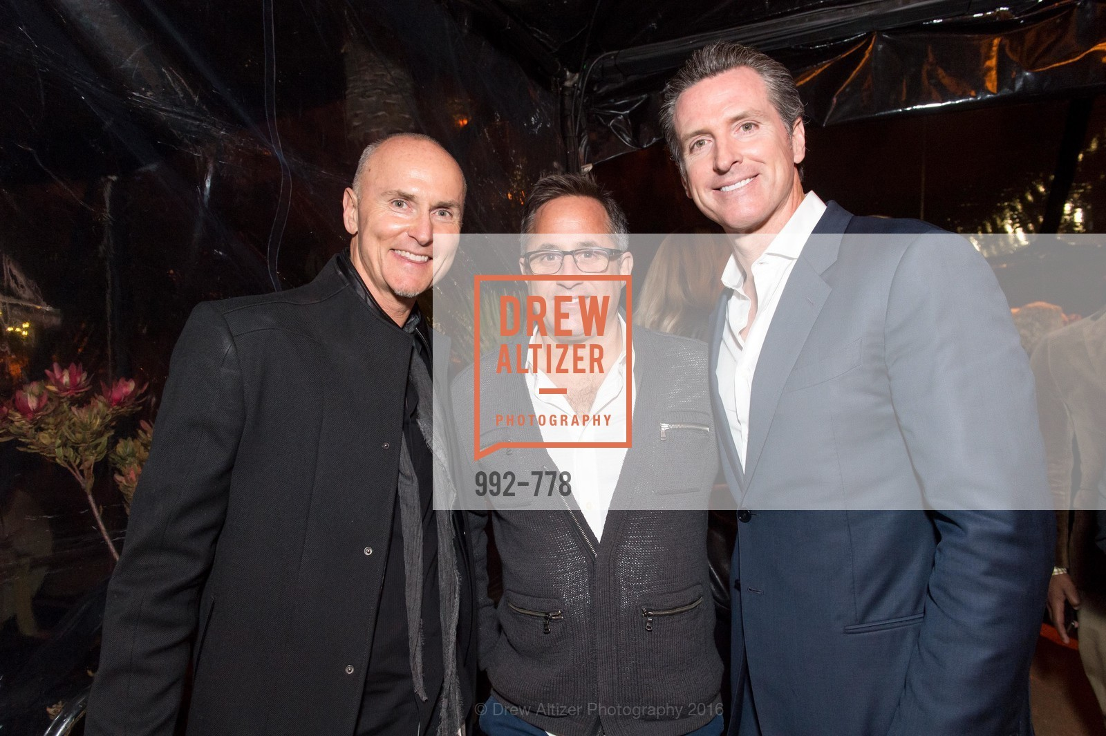 Chip Conley, Oren Bronstein, Gavin Newsom, The Bay Lights Grand Relighting Celebration, Epic Steakhouse. 369 The Embarcadero, January 29th, 2016,Drew Altizer, Drew Altizer Photography, full-service agency, private events, San Francisco photographer, photographer california