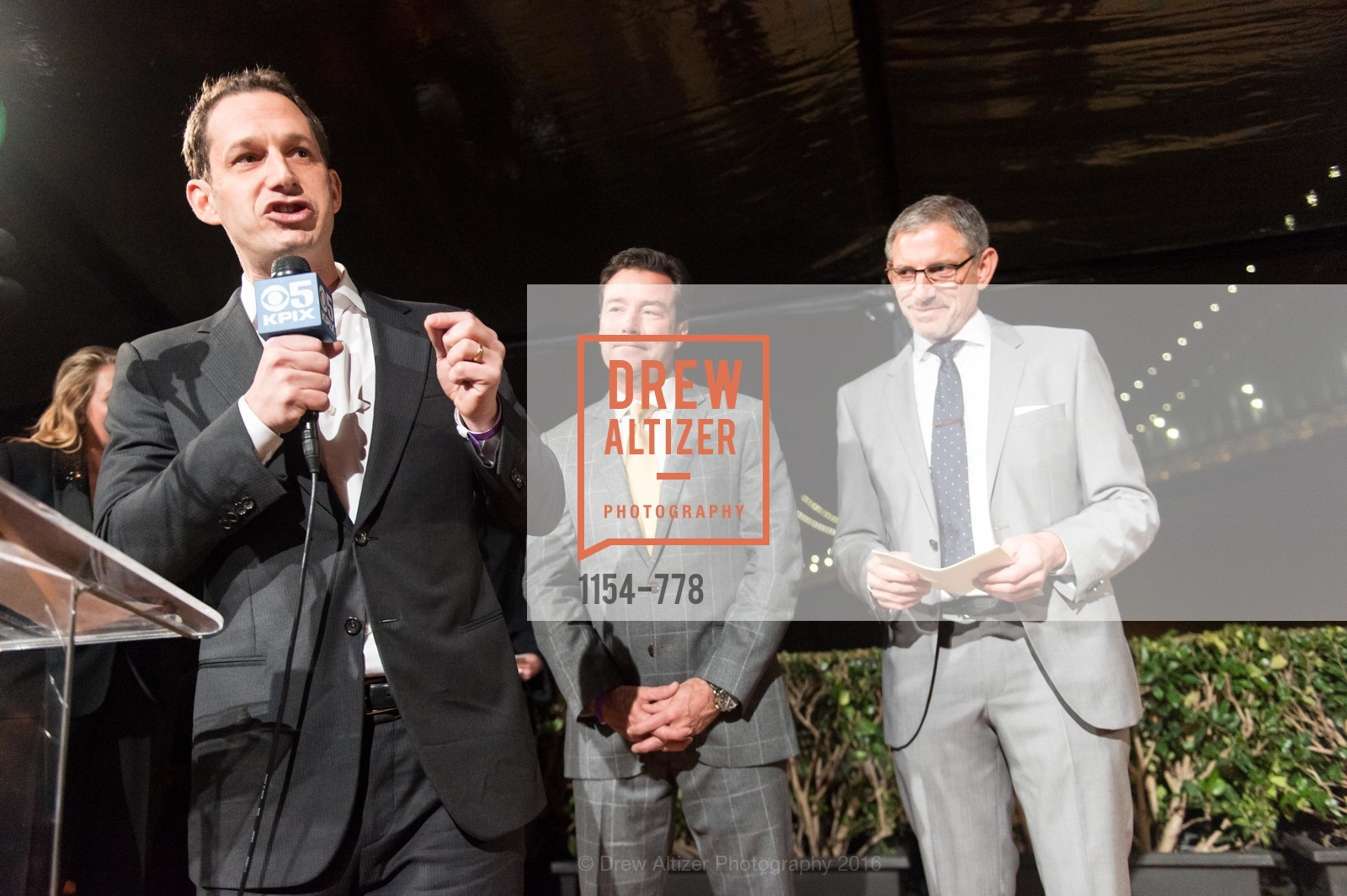 Daniel Lurie, Keith Bruce, Ben Davis, The Bay Lights Grand Relighting Celebration, Epic Steakhouse. 369 The Embarcadero, January 29th, 2016,Drew Altizer, Drew Altizer Photography, full-service agency, private events, San Francisco photographer, photographer california