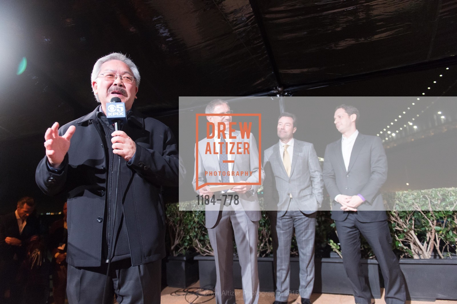 Ed Lee, Ben Davis, Keith Bruce, Daniel Lurie, The Bay Lights Grand Relighting Celebration, Epic Steakhouse. 369 The Embarcadero, January 29th, 2016,Drew Altizer, Drew Altizer Photography, full-service agency, private events, San Francisco photographer, photographer california
