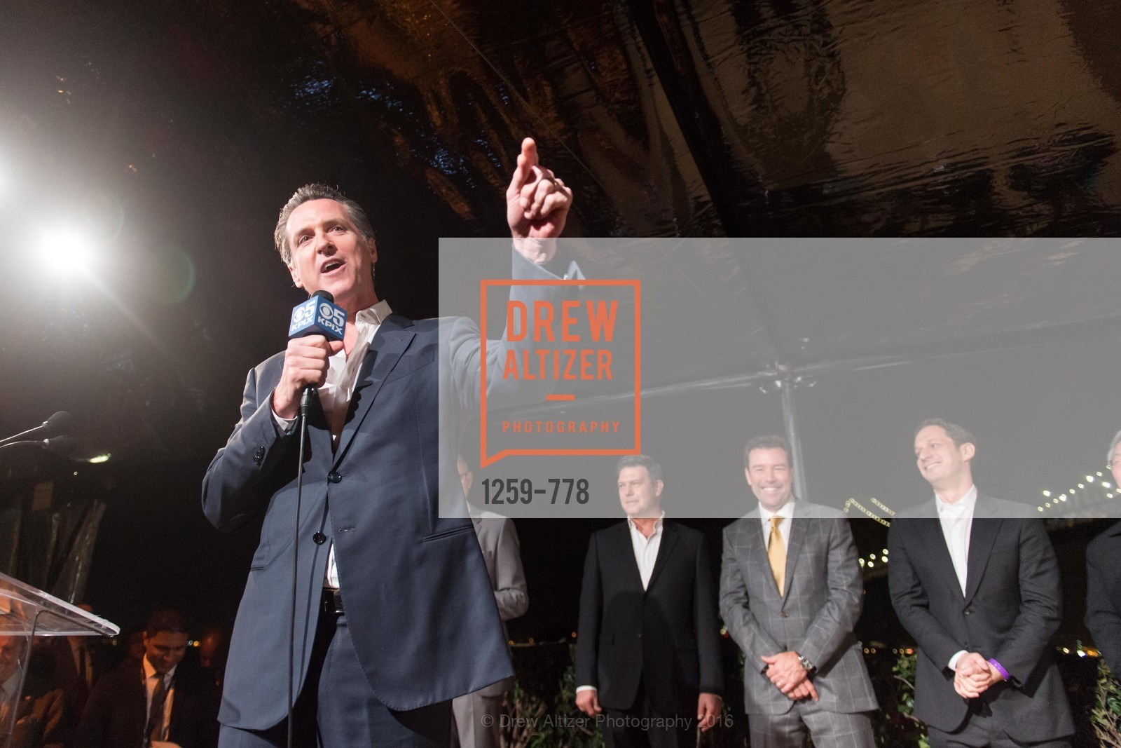 Gavin Newsom, The Bay Lights Grand Relighting Celebration, Epic Steakhouse. 369 The Embarcadero, January 29th, 2016