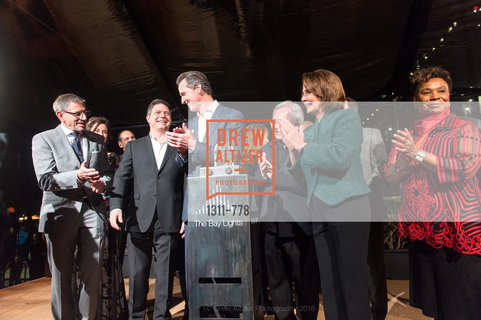 Ben Davis, Leo Villareal, Gavin Newsom, Ed Lee, Nancy Pelosi, Barbara Lee, The Bay Lights Grand Relighting Celebration, Epic Steakhouse. 369 The Embarcadero, January 29th, 2016,Drew Altizer, Drew Altizer Photography, full-service agency, private events, San Francisco photographer, photographer california