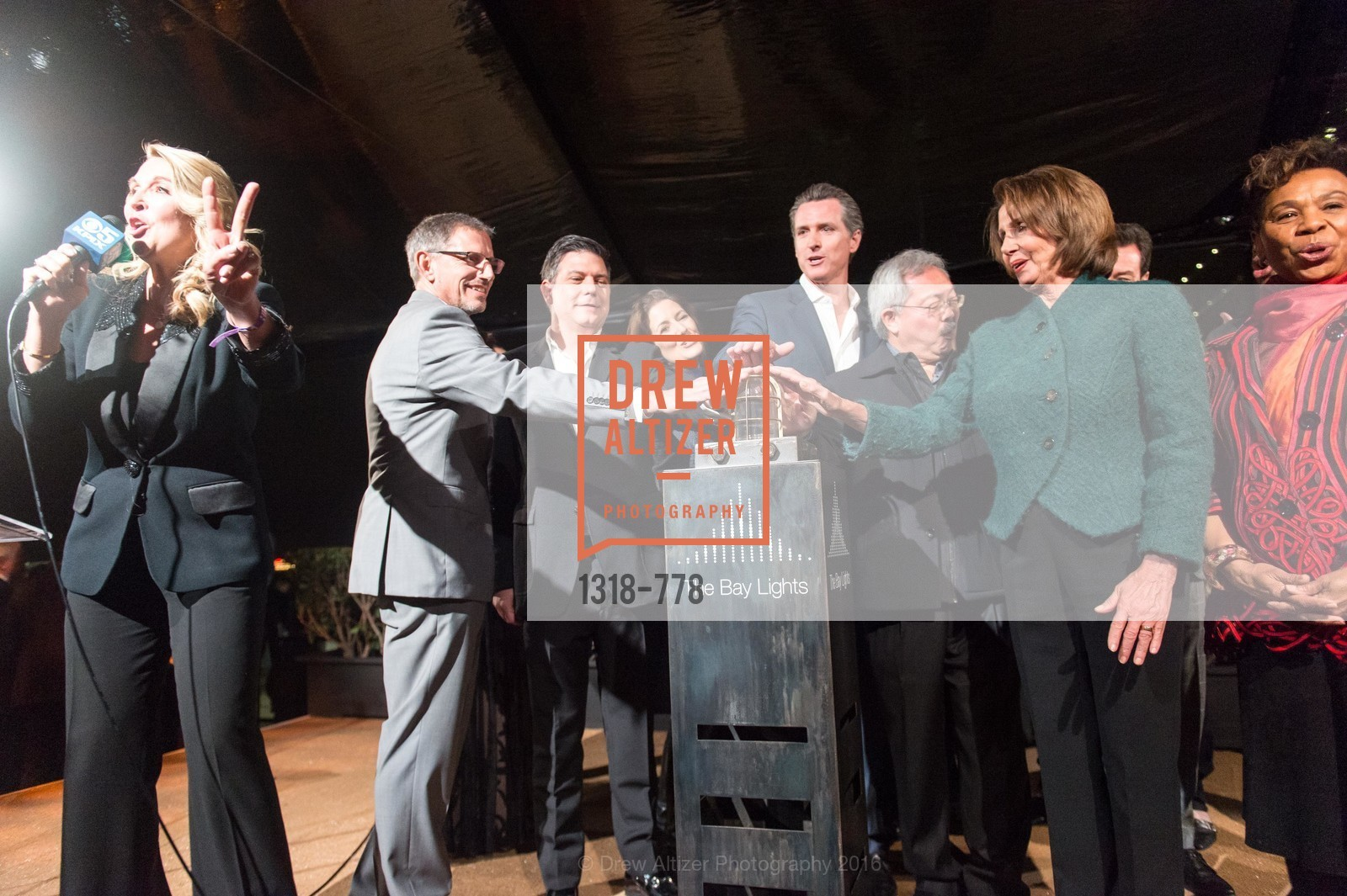 Juliette Goodrich, Ben Davis, Leo Villareal, Libby Schaaf, Gavin Newson, Ed Lee, Nancy Pelosi, Barbara Lee, The Bay Lights Grand Relighting Celebration, Epic Steakhouse. 369 The Embarcadero, January 29th, 2016,Drew Altizer, Drew Altizer Photography, full-service agency, private events, San Francisco photographer, photographer california