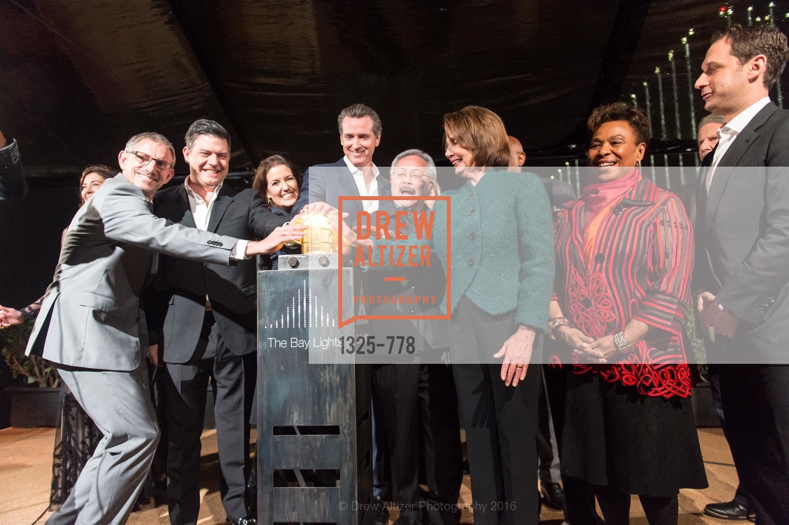 Ben Davis, Leo Villareal, Libby Schaaf, Gavin Newson, Ed Lee, Nancy Pelosi, Barbara Lee, Daniel Lurie, The Bay Lights Grand Relighting Celebration, Epic Steakhouse. 369 The Embarcadero, January 29th, 2016,Drew Altizer, Drew Altizer Photography, full-service agency, private events, San Francisco photographer, photographer california