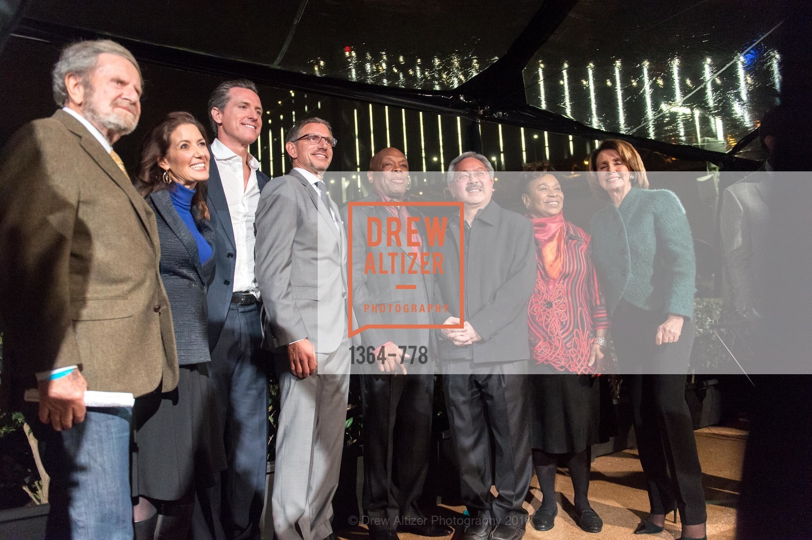 Tad Taube, Libby Schaaf, Gavin Newsom, Ben Davis, Willie Brown, Ed Lee, Barbara Lee, Nancy Pelosi, The Bay Lights Grand Relighting Celebration, Epic Steakhouse. 369 The Embarcadero, January 29th, 2016,Drew Altizer, Drew Altizer Photography, full-service agency, private events, San Francisco photographer, photographer california