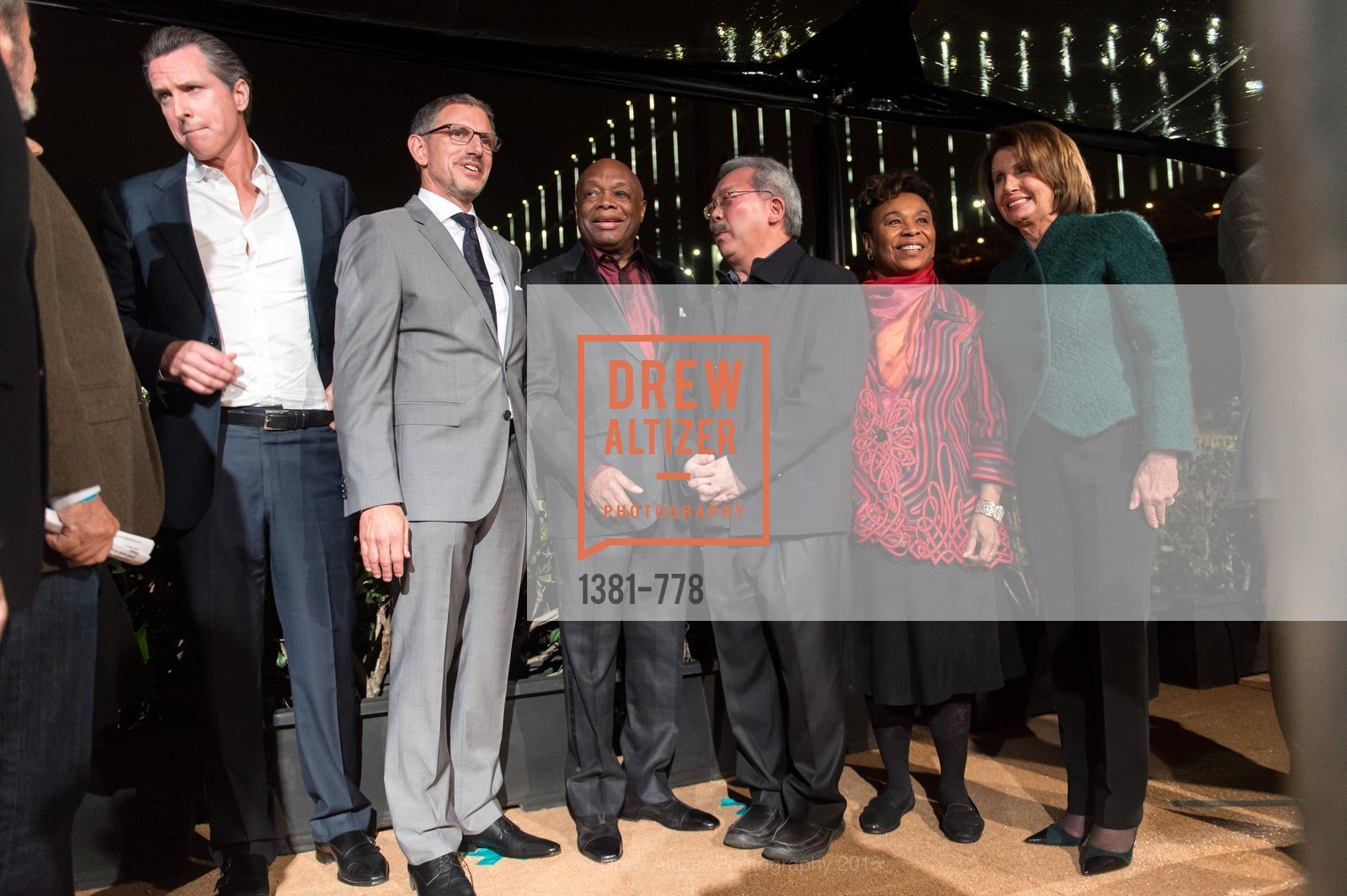 Gavin Newsom, Ben Davis, Willie Brown, Ed Lee, Barbara Lee, Nancy Pelosi, The Bay Lights Grand Relighting Celebration, Epic Steakhouse. 369 The Embarcadero, January 29th, 2016,Drew Altizer, Drew Altizer Photography, full-service agency, private events, San Francisco photographer, photographer california