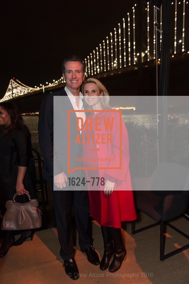 Gavin Newsom, Jennifer Siebel Newsom, The Bay Lights Grand Relighting Celebration, Epic Steakhouse. 369 The Embarcadero, January 29th, 2016,Drew Altizer, Drew Altizer Photography, full-service agency, private events, San Francisco photographer, photographer california