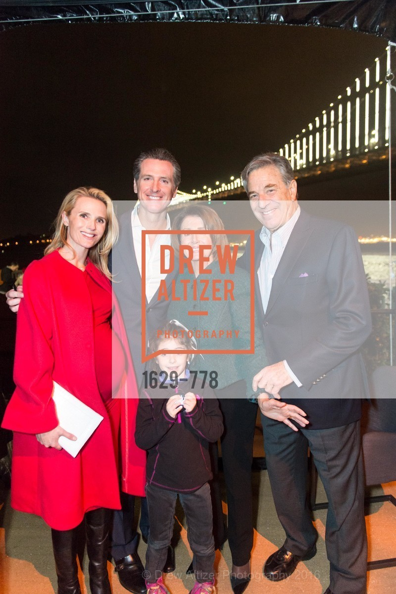 Jennfier Siebel Newsom, Gavin Newsom, Bella Kaufman, Nancy Pelosi, Paul Pelosi, The Bay Lights Grand Relighting Celebration, Epic Steakhouse. 369 The Embarcadero, January 29th, 2016,Drew Altizer, Drew Altizer Photography, full-service agency, private events, San Francisco photographer, photographer california