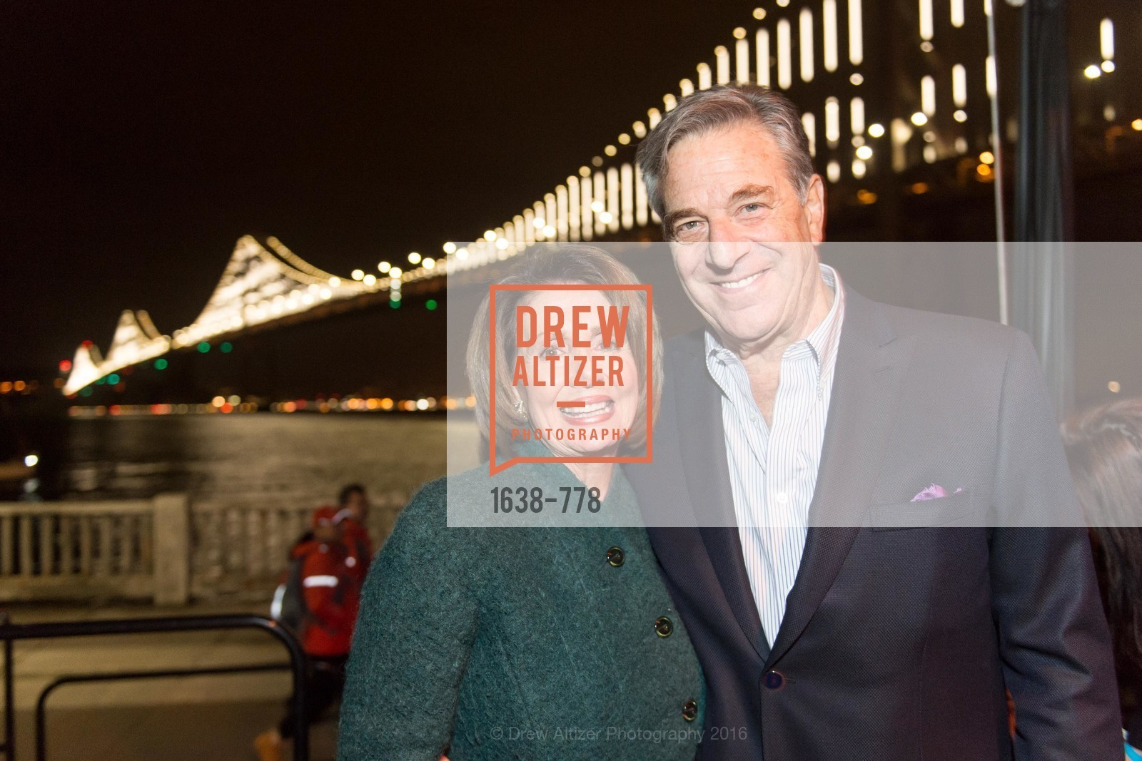 Nancy Pelosi, Paul Pelosi, The Bay Lights Grand Relighting Celebration, Epic Steakhouse. 369 The Embarcadero, January 29th, 2016,Drew Altizer, Drew Altizer Photography, full-service agency, private events, San Francisco photographer, photographer california