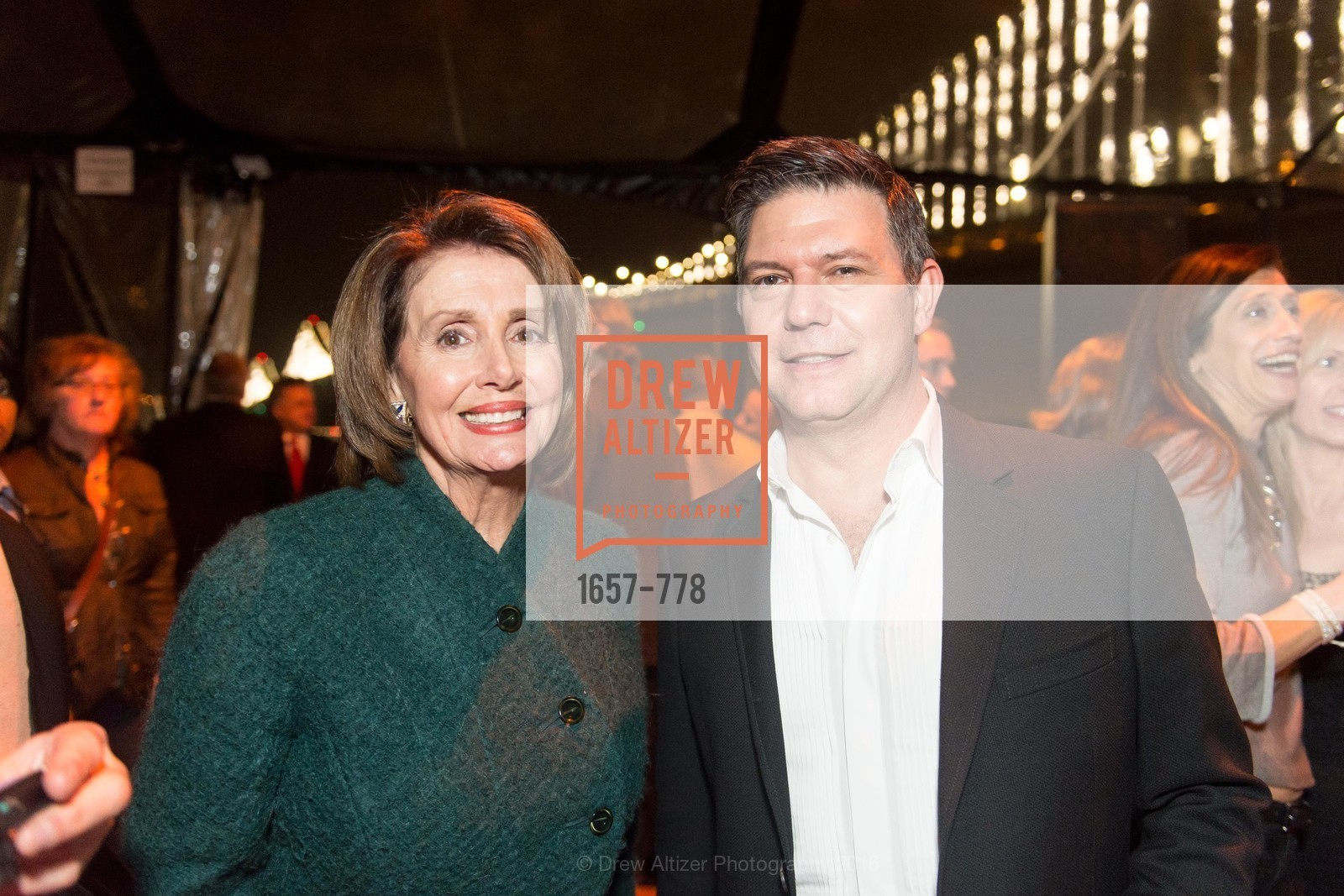 Nancy Pelosi, Leo Villareal, The Bay Lights Grand Relighting Celebration, Epic Steakhouse. 369 The Embarcadero, January 29th, 2016,Drew Altizer, Drew Altizer Photography, full-service event agency, private events, San Francisco photographer, photographer California