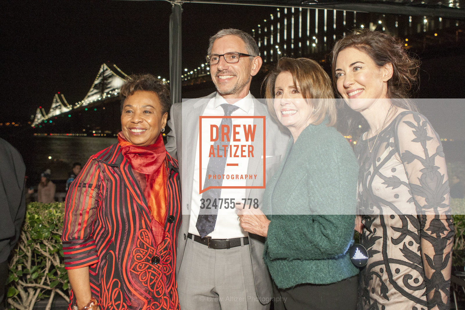 Barbara Lee, Ben Davis, Nancy Pelosi, Vanessa Inn, The Bay Lights Grand Relighting Celebration, Epic Steakhouse. 369 The Embarcadero, January 29th, 2016,Drew Altizer, Drew Altizer Photography, full-service agency, private events, San Francisco photographer, photographer california