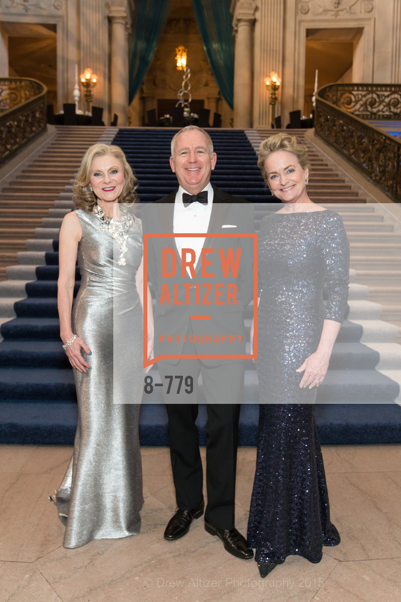 Patti Rock, Glenn McCoy, Shelby Strudwick, San Francisco Ballet 2015 Opening Night Gala, San Francisco City Hall. 1 Dr Carlton B Goodlett Pl, January 22nd, 2015,Drew Altizer, Drew Altizer Photography, full-service agency, private events, San Francisco photographer, photographer california