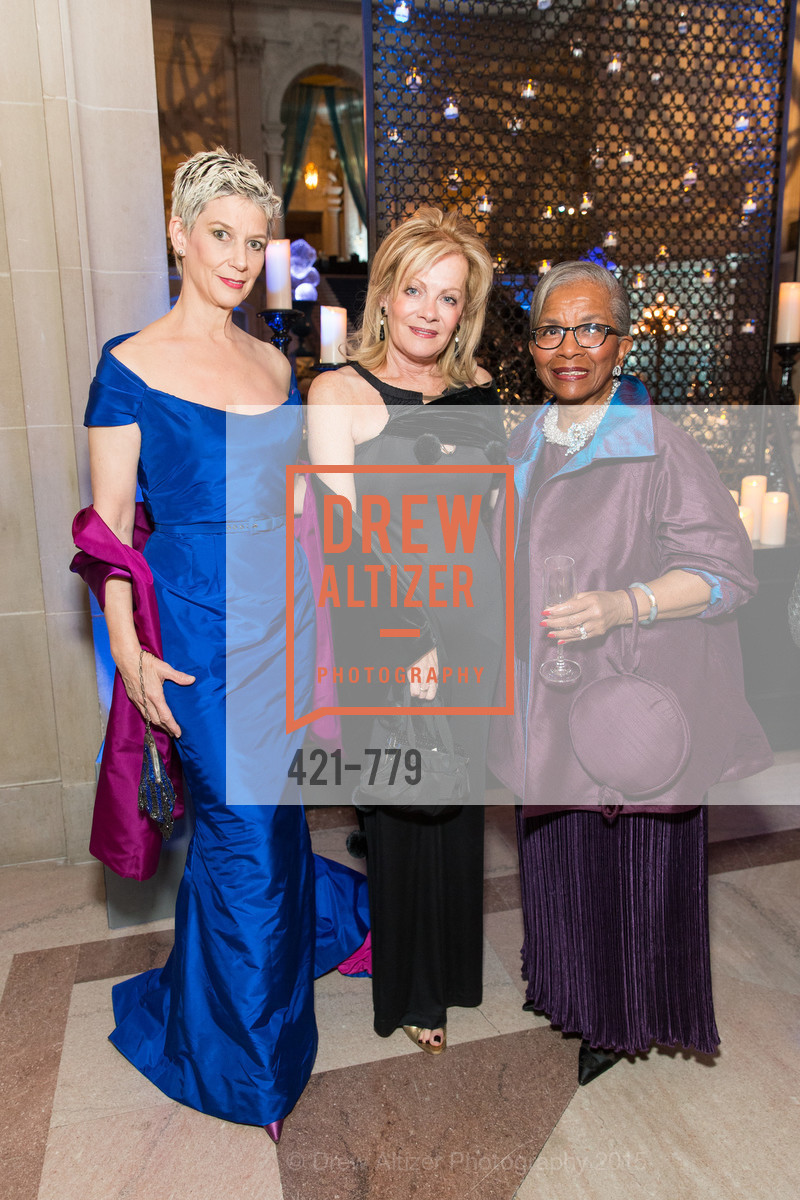 Patricia Kelly, Alison Carlson, Fran Streets, San Francisco Ballet 2015 Opening Night Gala, San Francisco City Hall. 1 Dr Carlton B Goodlett Pl, January 22nd, 2015,Drew Altizer, Drew Altizer Photography, full-service event agency, private events, San Francisco photographer, photographer California