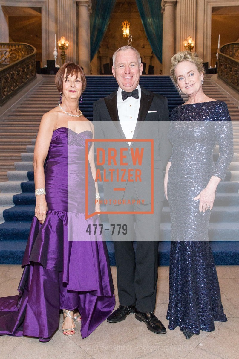 Debra Bernard, Glenn McCoy, Shelby Strudwick, San Francisco Ballet 2015 Opening Night Gala, San Francisco City Hall. 1 Dr Carlton B Goodlett Pl, January 22nd, 2015,Drew Altizer, Drew Altizer Photography, full-service event agency, private events, San Francisco photographer, photographer California