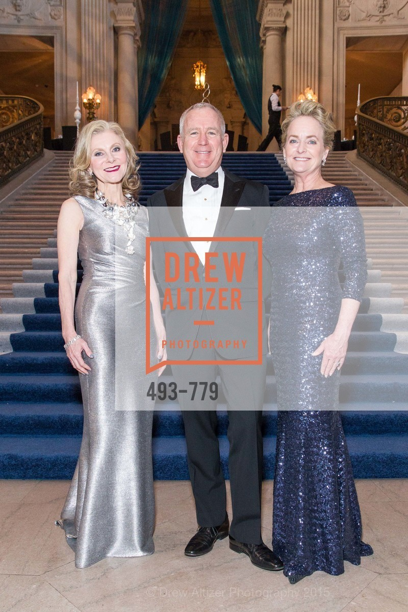 Patti Rock, Glenn McCoy, Shelby Strudwick, San Francisco Ballet 2015 Opening Night Gala, San Francisco City Hall. 1 Dr Carlton B Goodlett Pl, January 22nd, 2015,Drew Altizer, Drew Altizer Photography, full-service event agency, private events, San Francisco photographer, photographer California