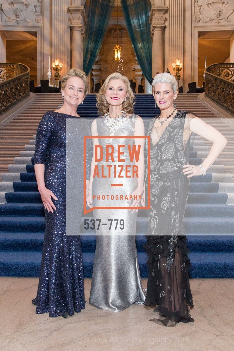 Shelby Strudwick, Patti Rock, Marie Hurabiell, San Francisco Ballet 2015 Opening Night Gala, San Francisco City Hall. 1 Dr Carlton B Goodlett Pl, January 22nd, 2015,Drew Altizer, Drew Altizer Photography, full-service agency, private events, San Francisco photographer, photographer california