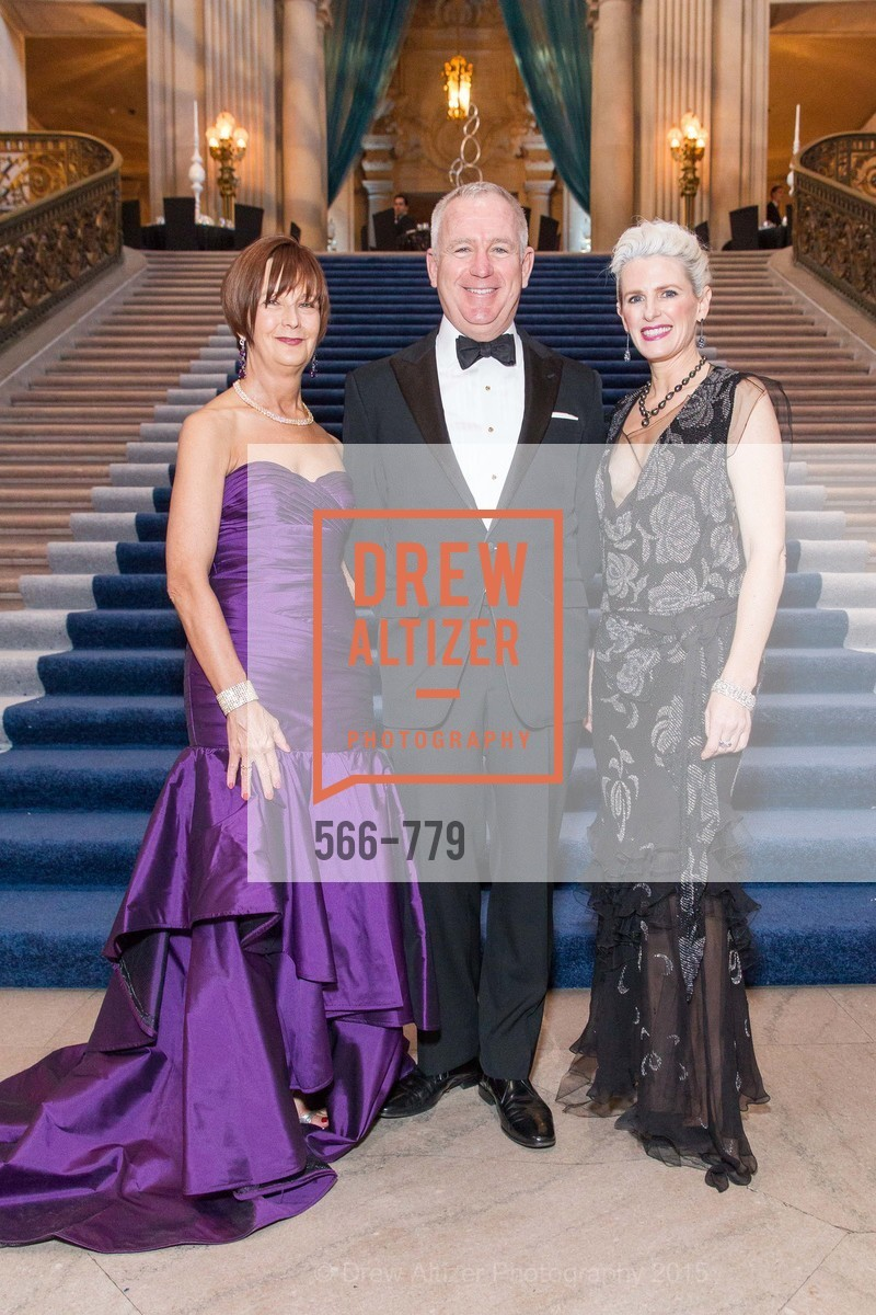 Debra Bernard, Glenn McCoy, Marie Hurabiell, San Francisco Ballet 2015 Opening Night Gala, San Francisco City Hall. 1 Dr Carlton B Goodlett Pl, January 22nd, 2015,Drew Altizer, Drew Altizer Photography, full-service agency, private events, San Francisco photographer, photographer california
