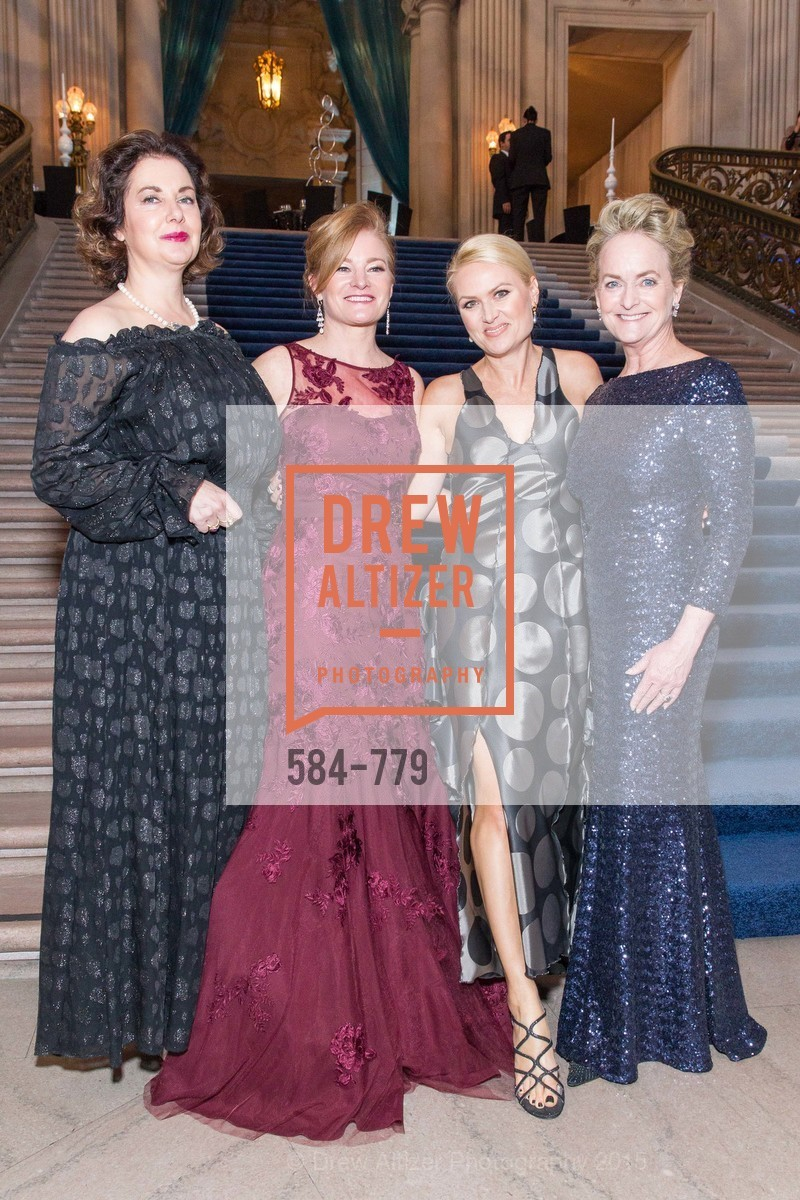 Patricia Wyrod, Rene Rodman, Maria Ralph, Shelby Strudwick, San Francisco Ballet 2015 Opening Night Gala, San Francisco City Hall. 1 Dr Carlton B Goodlett Pl, January 22nd, 2015,Drew Altizer, Drew Altizer Photography, full-service agency, private events, San Francisco photographer, photographer california