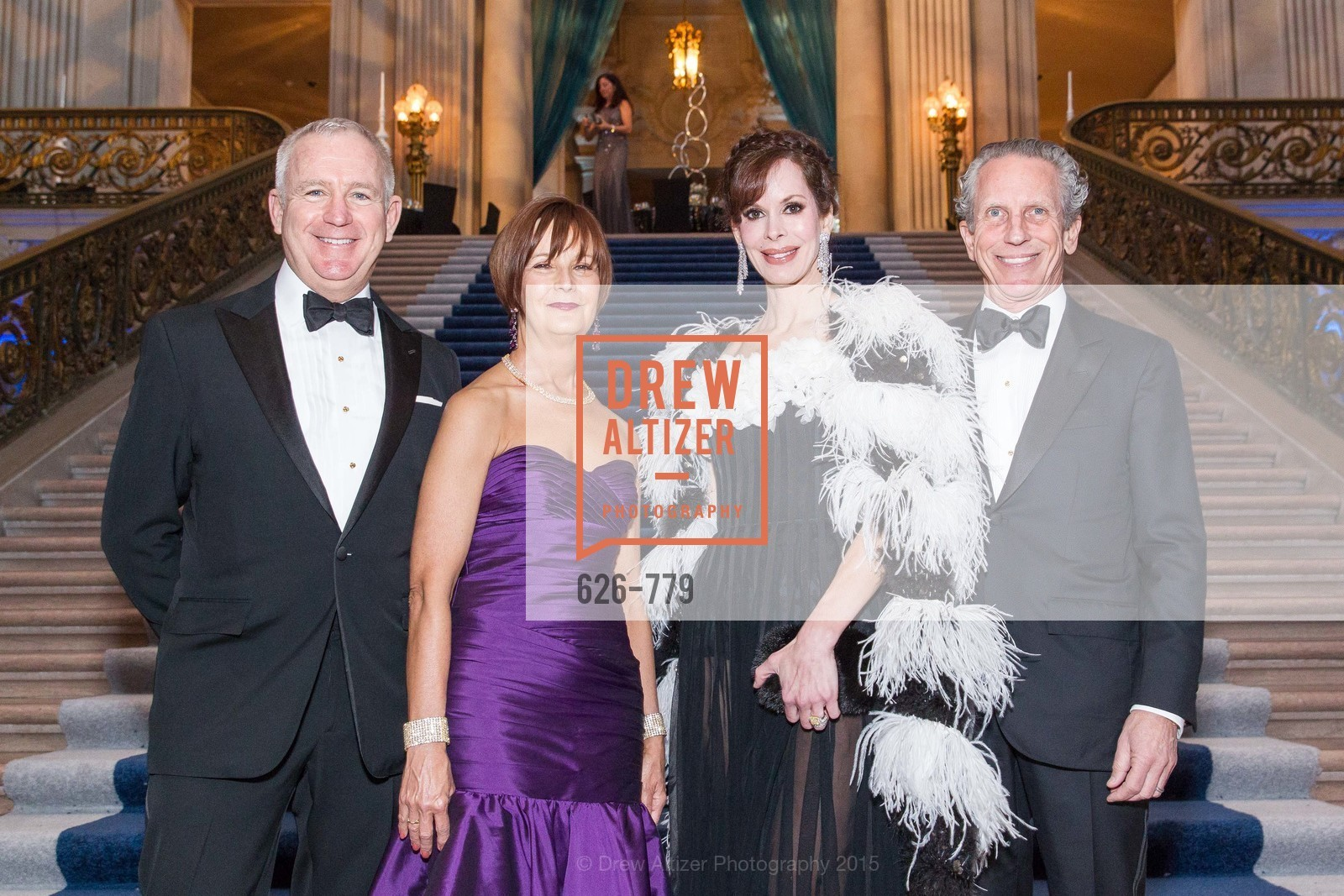 Glenn McCoy, Debra Bernard, Stephanie Marver, Jim Marver, San Francisco Ballet 2015 Opening Night Gala, San Francisco City Hall. 1 Dr Carlton B Goodlett Pl, January 22nd, 2015,Drew Altizer, Drew Altizer Photography, full-service agency, private events, San Francisco photographer, photographer california