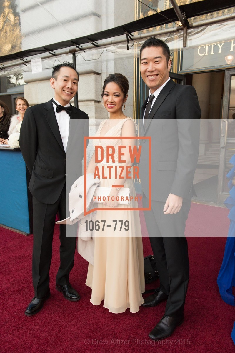 Patrick Lee, Tutram Nguyen, Lyle Fong, San Francisco Ballet 2015 Opening Night Gala, San Francisco City Hall. 1 Dr Carlton B Goodlett Pl, January 22nd, 2015,Drew Altizer, Drew Altizer Photography, full-service agency, private events, San Francisco photographer, photographer california