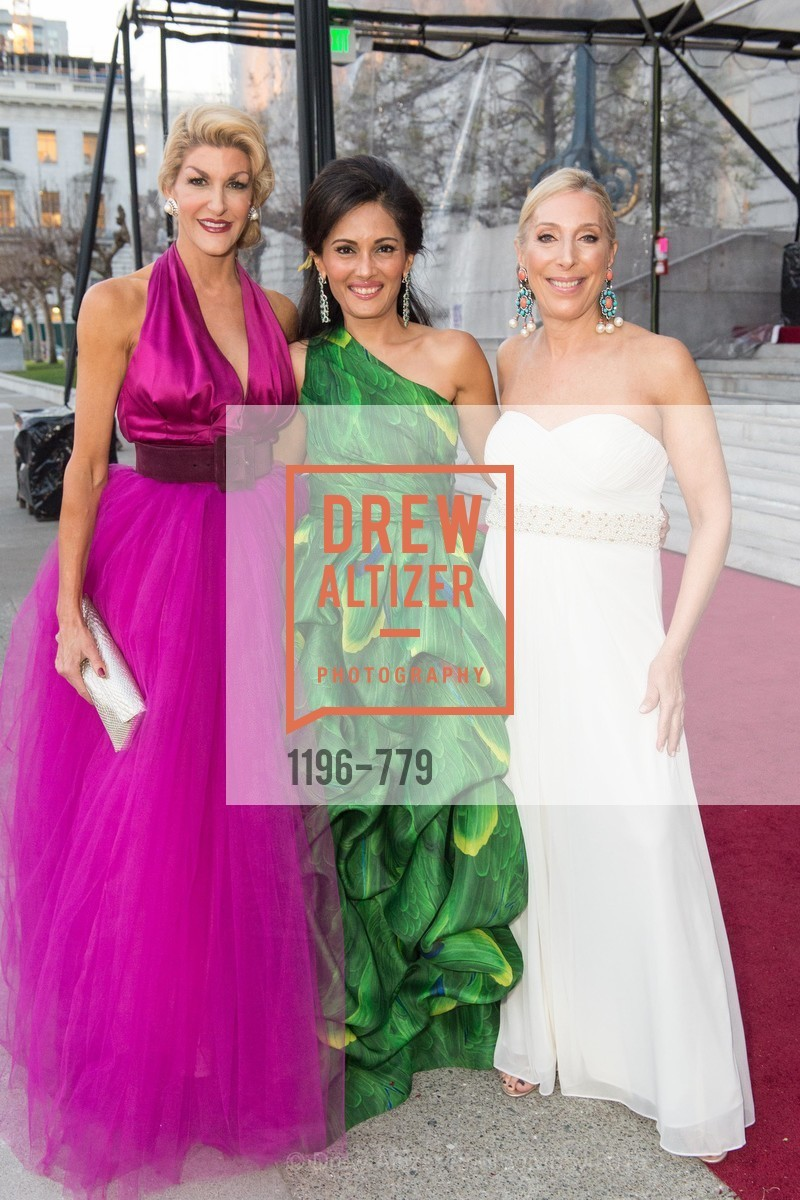 Karen Caldwell, Komal Shah, Betsy Linder, San Francisco Ballet 2015 Opening Night Gala, San Francisco City Hall. 1 Dr Carlton B Goodlett Pl, January 22nd, 2015,Drew Altizer, Drew Altizer Photography, full-service agency, private events, San Francisco photographer, photographer california