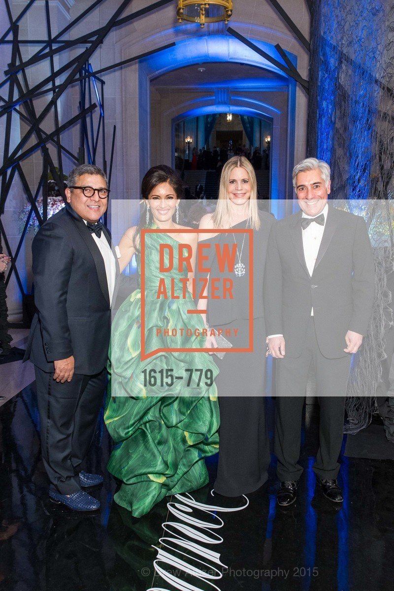 Riccardo Benavides, Komal Shah, Mary Beth Shimmon, David Shimmon, San Francisco Ballet 2015 Opening Night Gala, San Francisco City Hall. 1 Dr Carlton B Goodlett Pl, January 22nd, 2015,Drew Altizer, Drew Altizer Photography, full-service agency, private events, San Francisco photographer, photographer california
