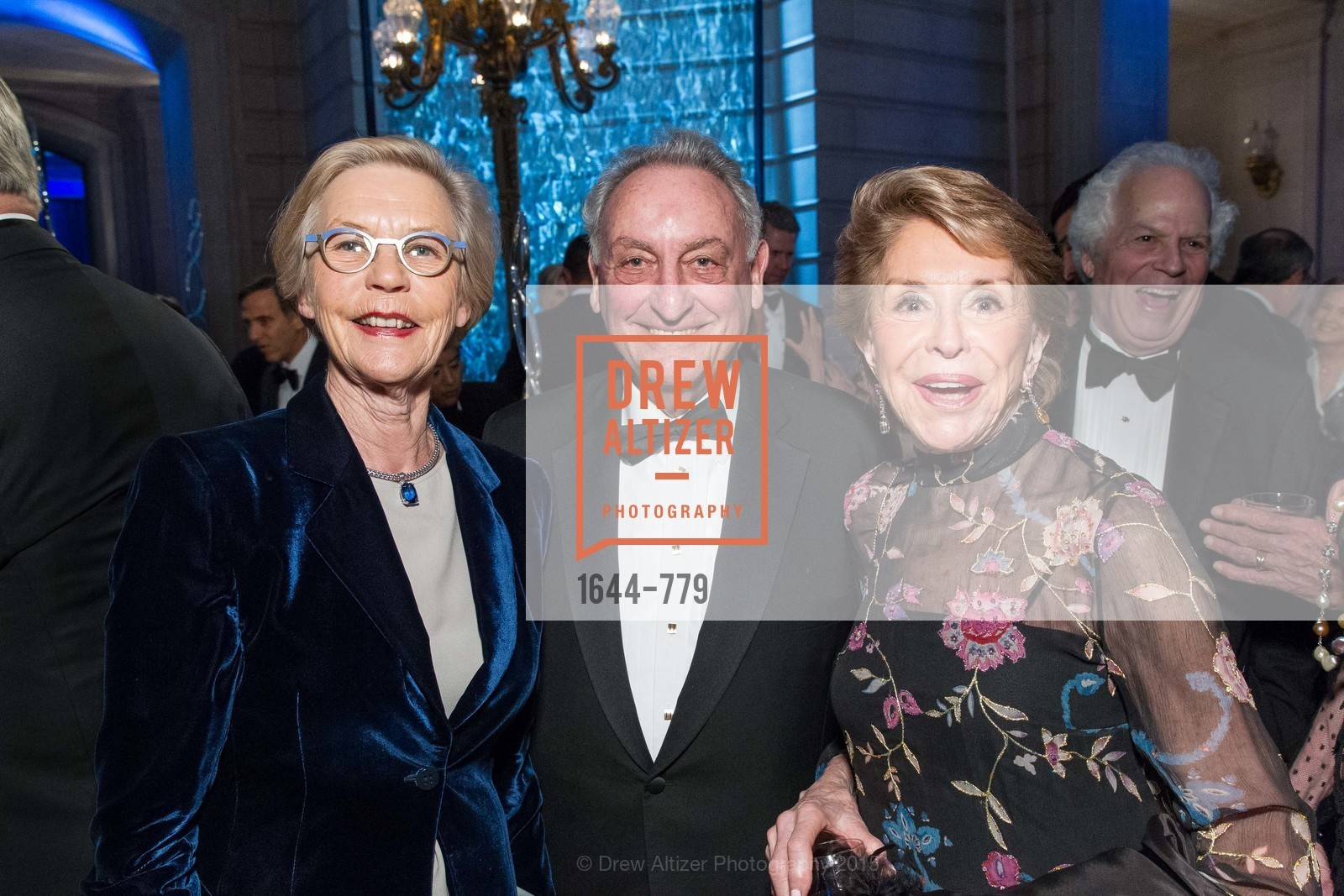 Barbro Osher, Sandy Weill, Joan Weill, San Francisco Ballet 2015 Opening Night Gala, San Francisco City Hall. 1 Dr Carlton B Goodlett Pl, January 22nd, 2015,Drew Altizer, Drew Altizer Photography, full-service agency, private events, San Francisco photographer, photographer california