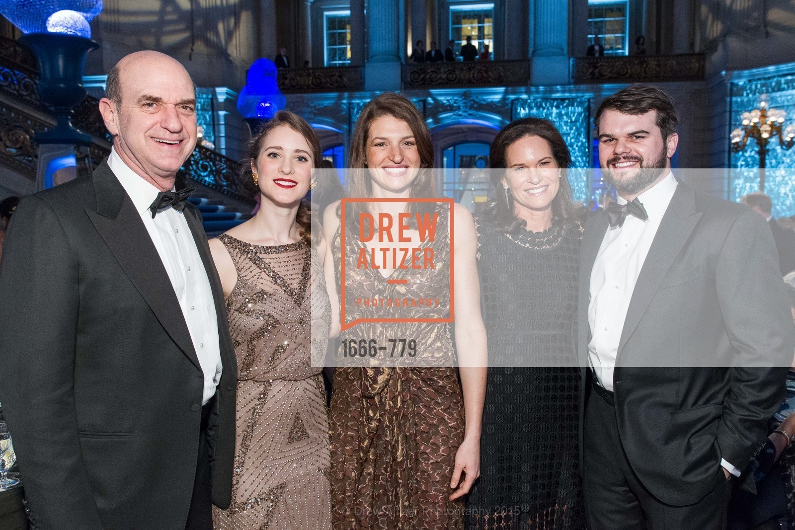 Bob Fisher, Raphaela Lipinsky, Lexie George, Randi Fisher, John Christiansen, San Francisco Ballet 2015 Opening Night Gala, San Francisco City Hall. 1 Dr Carlton B Goodlett Pl, January 22nd, 2015,Drew Altizer, Drew Altizer Photography, full-service agency, private events, San Francisco photographer, photographer california