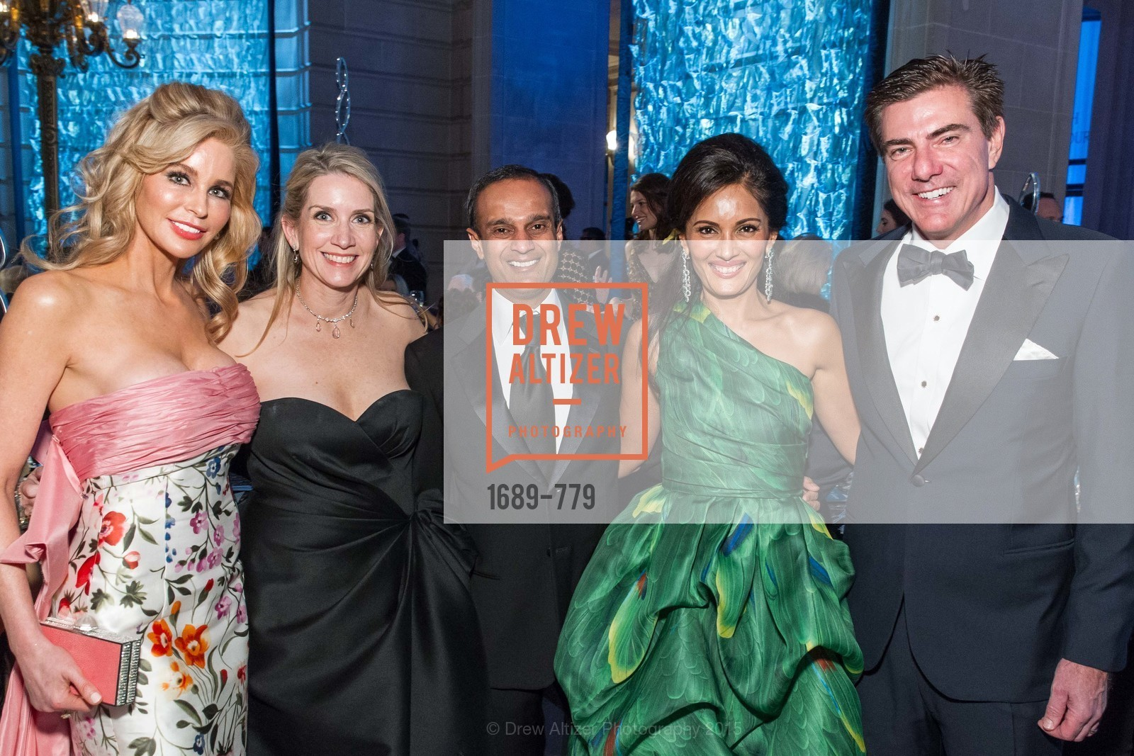 Paula Carano, Jennifer Walske, Gaurav Garg, Komal Shah, Bandel Carano, San Francisco Ballet 2015 Opening Night Gala, San Francisco City Hall. 1 Dr Carlton B Goodlett Pl, January 22nd, 2015,Drew Altizer, Drew Altizer Photography, full-service agency, private events, San Francisco photographer, photographer california