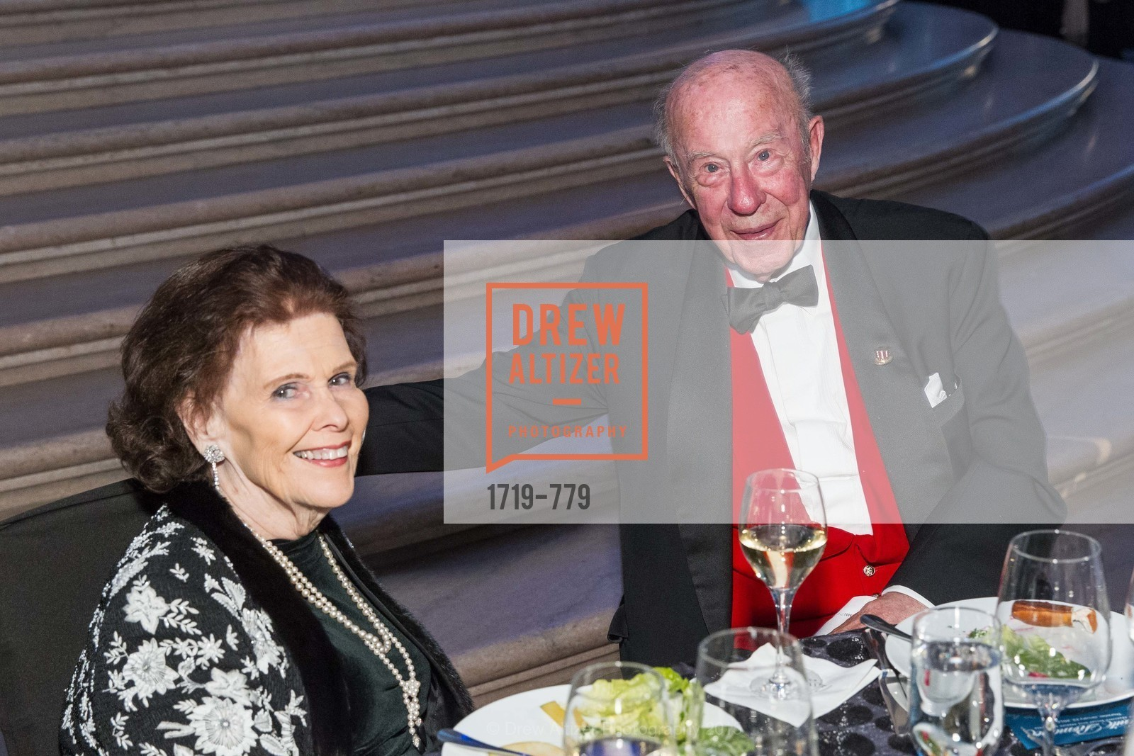 Lucy Jewett, George Shultz, San Francisco Ballet 2015 Opening Night Gala, San Francisco City Hall. 1 Dr Carlton B Goodlett Pl, January 22nd, 2015,Drew Altizer, Drew Altizer Photography, full-service agency, private events, San Francisco photographer, photographer california