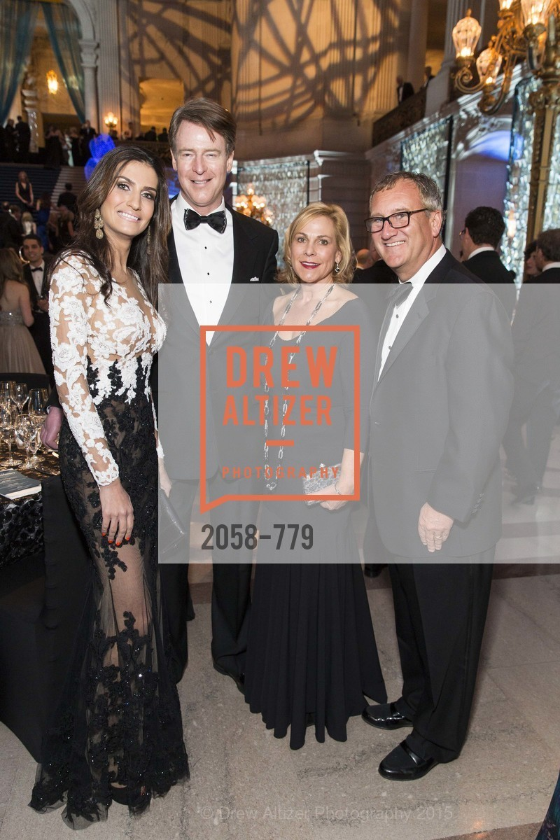 Leyla Alhosseini, David Spencer, Suzie Lester, Mark Lester, San Francisco Ballet 2015 Opening Night Gala, San Francisco City Hall. 1 Dr Carlton B Goodlett Pl, January 22nd, 2015,Drew Altizer, Drew Altizer Photography, full-service agency, private events, San Francisco photographer, photographer california