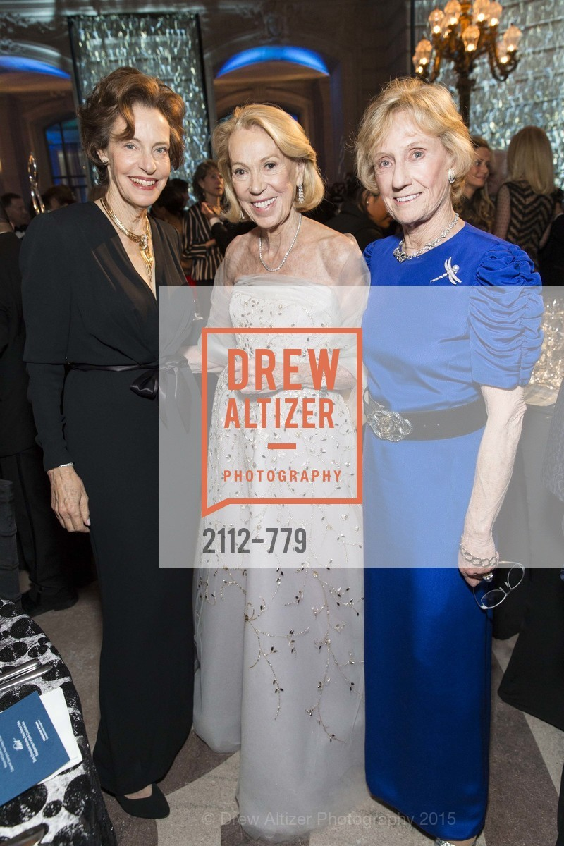 Barbara George, Charlotte Shultz, Nancy Bechtle, San Francisco Ballet 2015 Opening Night Gala, San Francisco City Hall. 1 Dr Carlton B Goodlett Pl, January 22nd, 2015,Drew Altizer, Drew Altizer Photography, full-service agency, private events, San Francisco photographer, photographer california