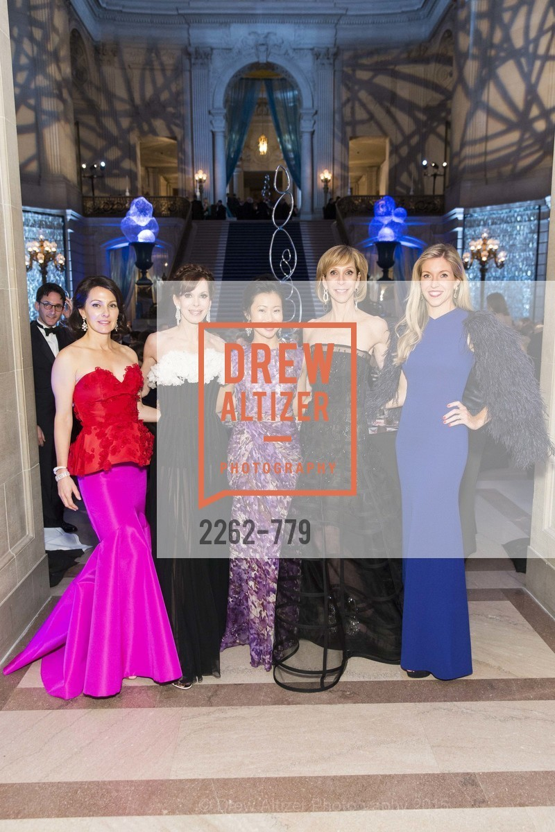 Beth Grossman, Stephanie Marver, Huifen Chan, Nancy Kukacka, Jane Gruber, San Francisco Ballet 2015 Opening Night Gala, San Francisco City Hall. 1 Dr Carlton B Goodlett Pl, January 22nd, 2015,Drew Altizer, Drew Altizer Photography, full-service agency, private events, San Francisco photographer, photographer california