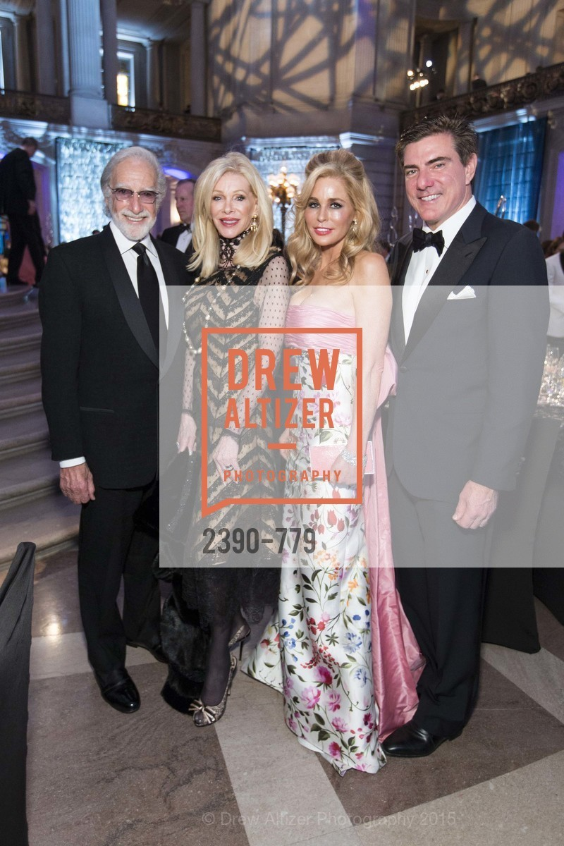 Ted Deikel, Pamala Deikel, Paula Carano, Bandel Carano, San Francisco Ballet 2015 Opening Night Gala, San Francisco City Hall. 1 Dr Carlton B Goodlett Pl, January 22nd, 2015,Drew Altizer, Drew Altizer Photography, full-service agency, private events, San Francisco photographer, photographer california