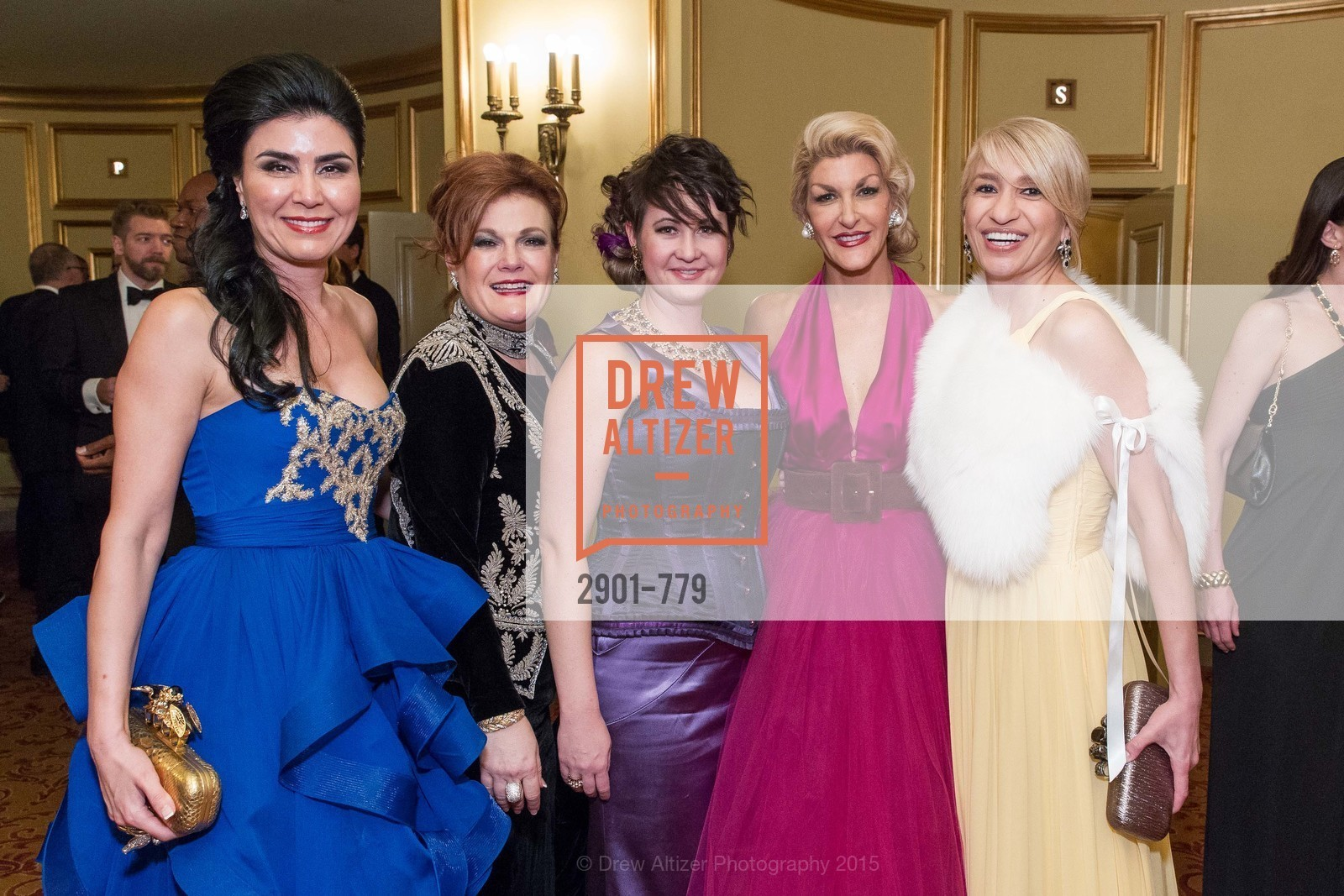 Afsaneh Akhtari, Jennifer Raiser, Natalie Parrish, Karen Caldwell, Navid Armstrong, San Francisco Ballet 2015 Opening Night Gala, San Francisco City Hall. 1 Dr Carlton B Goodlett Pl, January 22nd, 2015,Drew Altizer, Drew Altizer Photography, full-service agency, private events, San Francisco photographer, photographer california
