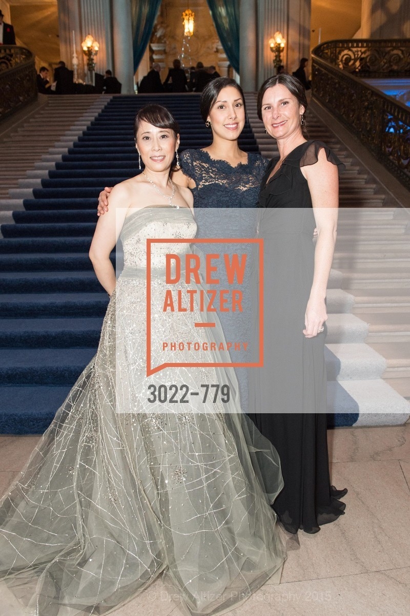 Chaomei Chen, Naud Mostofi, Angela Loeffler, San Francisco Ballet 2015 Opening Night Gala, San Francisco City Hall. 1 Dr Carlton B Goodlett Pl, January 22nd, 2015,Drew Altizer, Drew Altizer Photography, full-service agency, private events, San Francisco photographer, photographer california