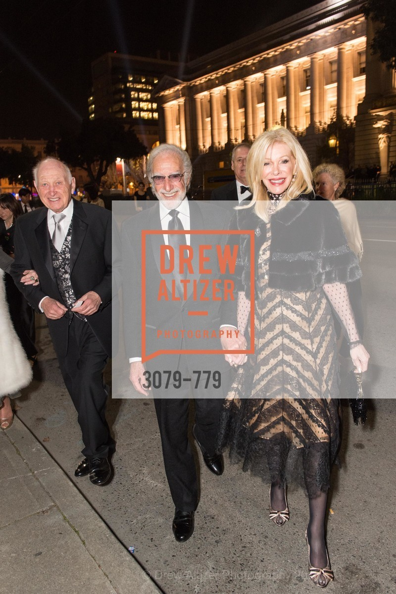 Jerry Grodsky, Ted Deikel, Pamala Deikel, San Francisco Ballet 2015 Opening Night Gala, San Francisco City Hall. 1 Dr Carlton B Goodlett Pl, January 22nd, 2015,Drew Altizer, Drew Altizer Photography, full-service event agency, private events, San Francisco photographer, photographer California