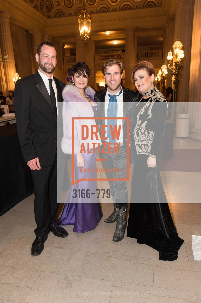 Brian Groman, Natalie Parrish, Matthew Kimball, Jennifer Raiser, San Francisco Ballet 2015 Opening Night Gala, San Francisco City Hall. 1 Dr Carlton B Goodlett Pl, January 22nd, 2015,Drew Altizer, Drew Altizer Photography, full-service agency, private events, San Francisco photographer, photographer california