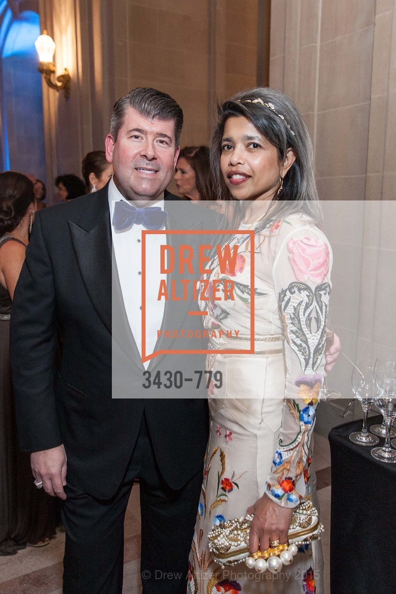Alan Morrell, Deepa Pakianathan, San Francisco Ballet 2015 Opening Night Gala, San Francisco City Hall. 1 Dr Carlton B Goodlett Pl, January 22nd, 2015,Drew Altizer, Drew Altizer Photography, full-service agency, private events, San Francisco photographer, photographer california