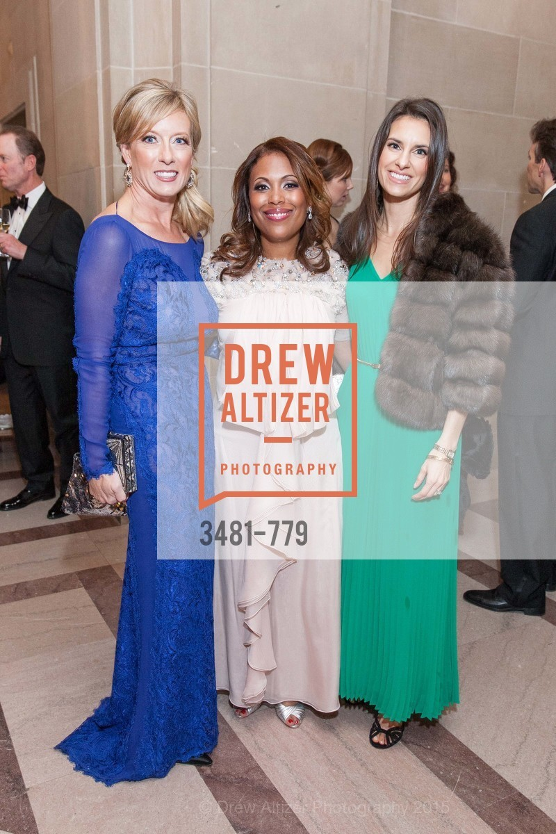 Rhonda Mahendroo, Laura Miller, Patricia Dassios, San Francisco Ballet 2015 Opening Night Gala, San Francisco City Hall. 1 Dr Carlton B Goodlett Pl, January 22nd, 2015,Drew Altizer, Drew Altizer Photography, full-service agency, private events, San Francisco photographer, photographer california