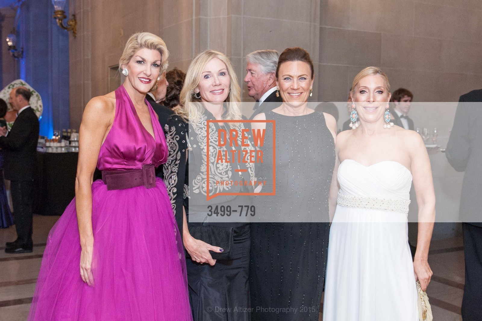 Karen Caldwell, Rosemary Baker, Carla Wytmar, Betsy Linder, San Francisco Ballet 2015 Opening Night Gala, San Francisco City Hall. 1 Dr Carlton B Goodlett Pl, January 22nd, 2015,Drew Altizer, Drew Altizer Photography, full-service agency, private events, San Francisco photographer, photographer california
