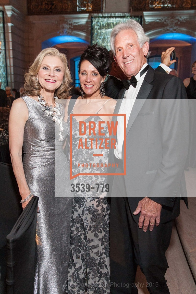Patti Rock, Deborah Taylor, John Fetzer, San Francisco Ballet 2015 Opening Night Gala, San Francisco City Hall. 1 Dr Carlton B Goodlett Pl, January 22nd, 2015,Drew Altizer, Drew Altizer Photography, full-service agency, private events, San Francisco photographer, photographer california