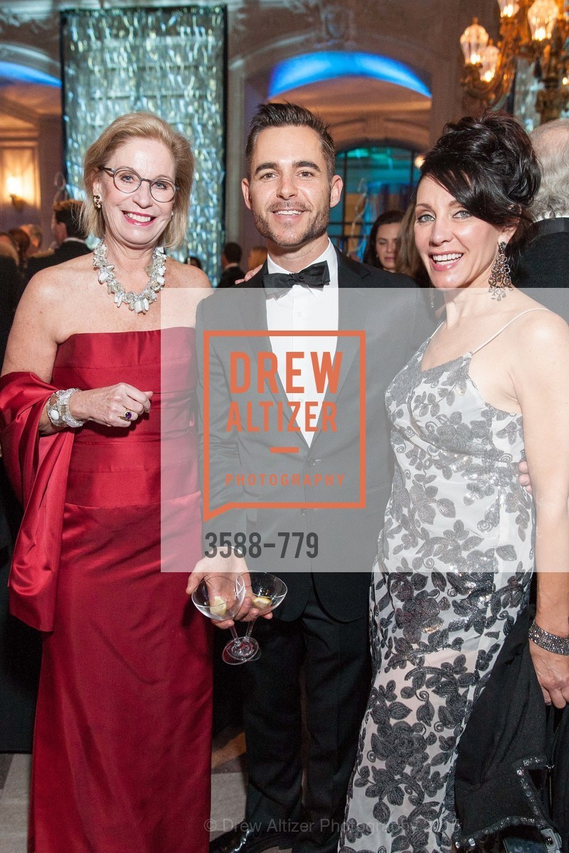 Sonia Evers, Ross Rayburn, Deborah Taylor, San Francisco Ballet 2015 Opening Night Gala, San Francisco City Hall. 1 Dr Carlton B Goodlett Pl, January 22nd, 2015,Drew Altizer, Drew Altizer Photography, full-service agency, private events, San Francisco photographer, photographer california