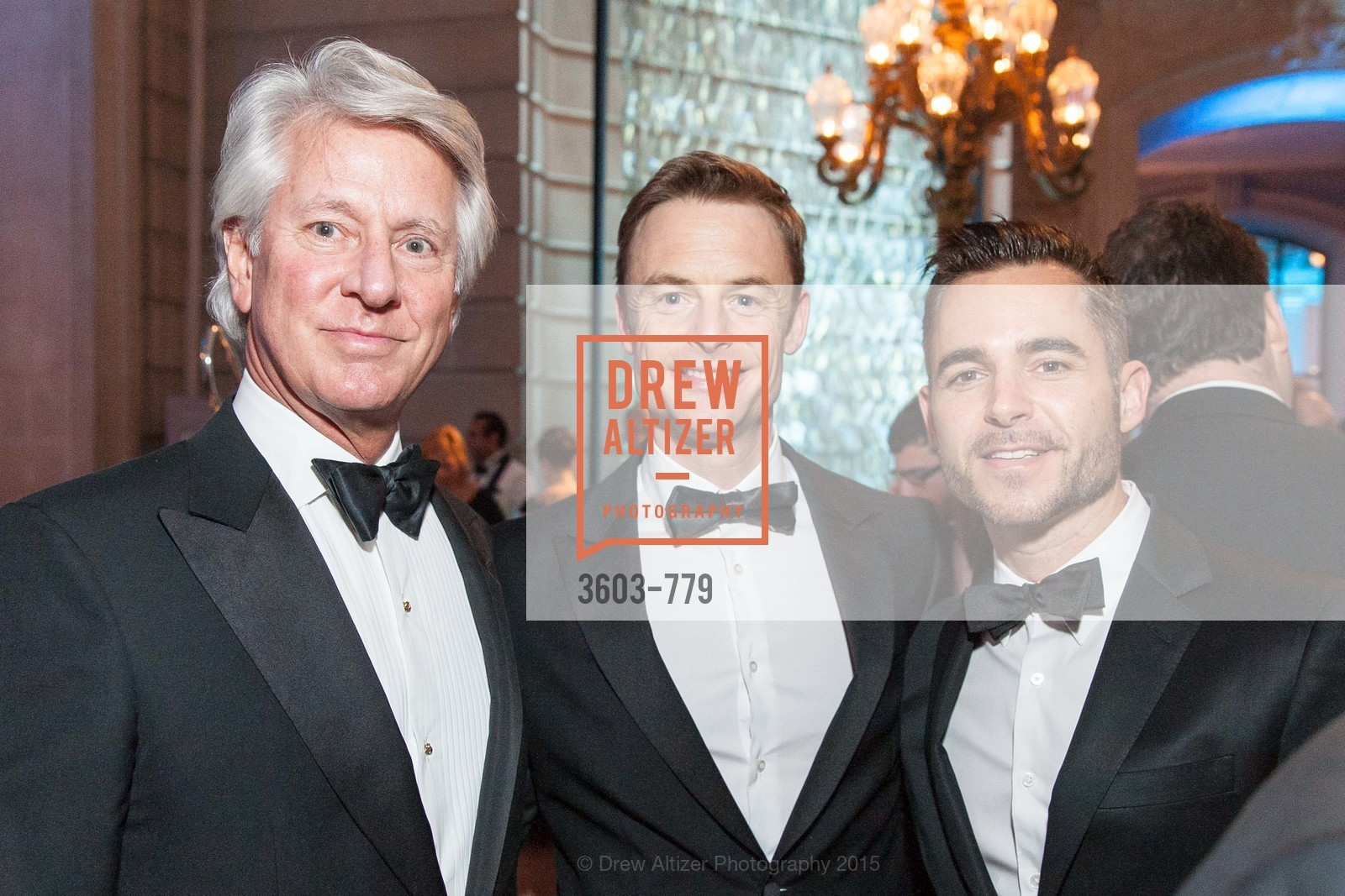Jeffrey Hayes, Christopher Wheeldon, Ross Rayburn, San Francisco Ballet 2015 Opening Night Gala, San Francisco City Hall. 1 Dr Carlton B Goodlett Pl, January 22nd, 2015,Drew Altizer, Drew Altizer Photography, full-service agency, private events, San Francisco photographer, photographer california