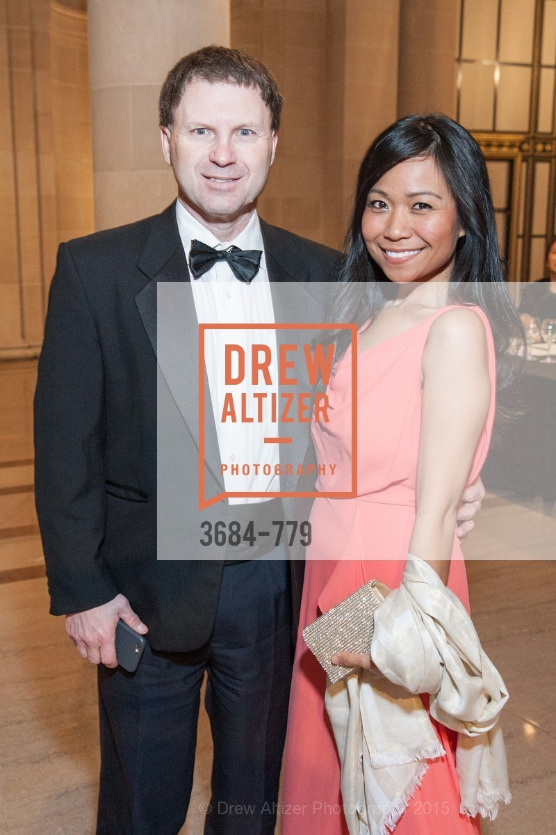 Roger Royce, May Chow, San Francisco Ballet 2015 Opening Night Gala, San Francisco City Hall. 1 Dr Carlton B Goodlett Pl, January 22nd, 2015